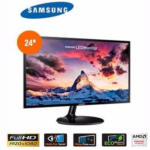 monitor samsung ls24f350fhlxpe, 24  pls, 1920 x 1080, hdmi /