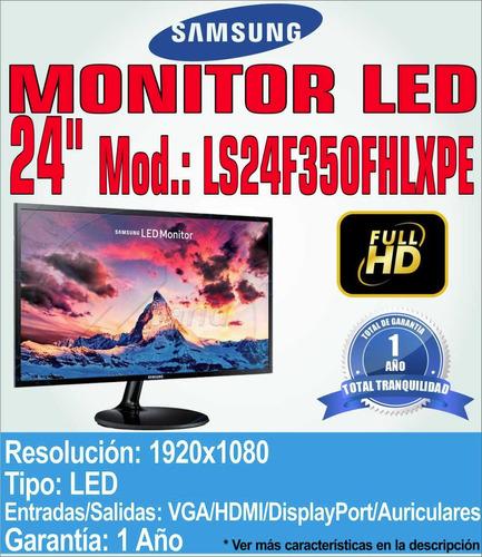 monitor samsung ls24f350fhlxpe led 24' ls24f350fhlx x mayor