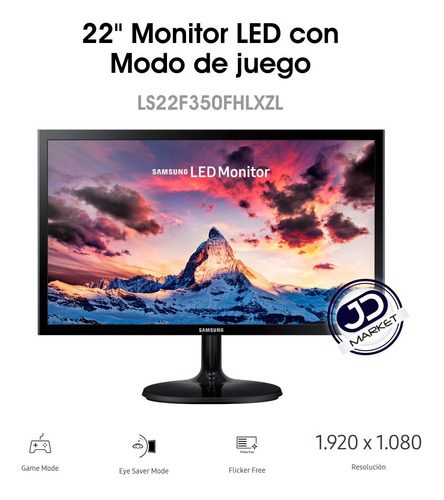 monitor samsung super slim de 22'', full hd 1920×1080, hdmi