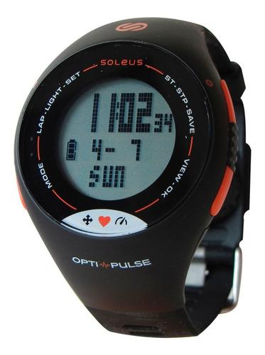 monitor sin banda soleus pulse negro/naranja