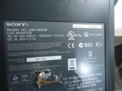 monitor sony lmd-2451w ( sucata )
