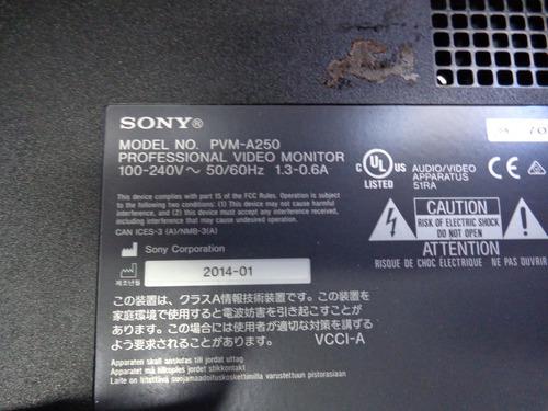 monitor sony pvm-a250 ( não funciona e sem suporte )