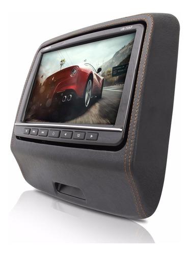 monitor uber para encosto de cabeça preto com game