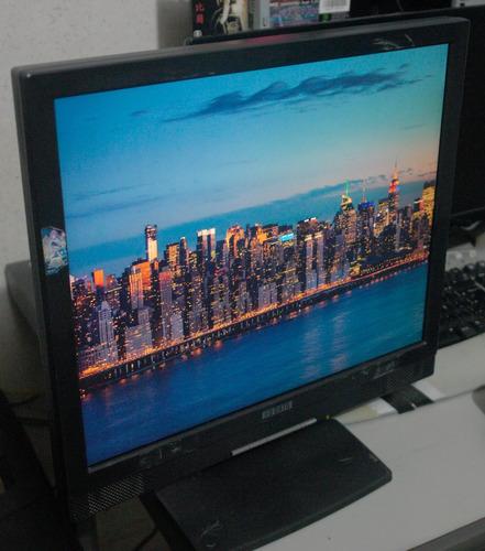 monitor vga 19 pol. importado fullscreen pc i-o data com som
