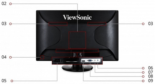 monitor viewsonic 22 va2246mh panel tn, resolución 1920x1080