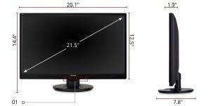 monitor viewsonic va2246mh led de 22 pulgadas