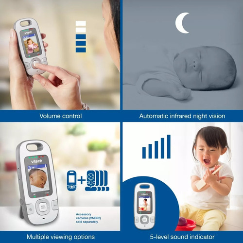monitor vtech vm312 video baby monitor with patrol-screen