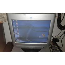 Monitor Convencional Crt 15 Hp Con Sus Cables