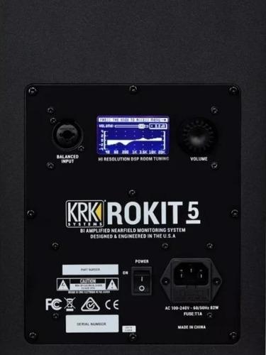 monitores ativo krk rokit rp 5 g4-bivolt lançamento par+novo