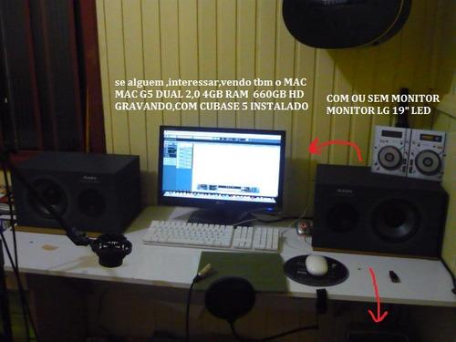 monitores de audio alesis one profissional  americano par,