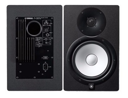 monitores de aúdio yamaha hs8/par/220v+novo na caixa/p+e