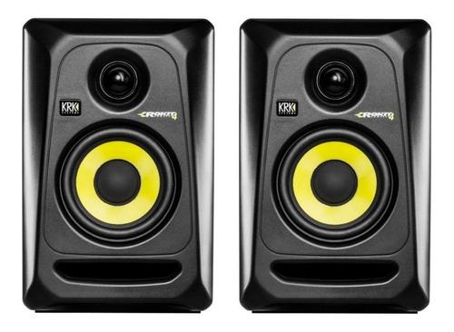 monitores de estudio krk rp4g3 par monitor studio grabacion