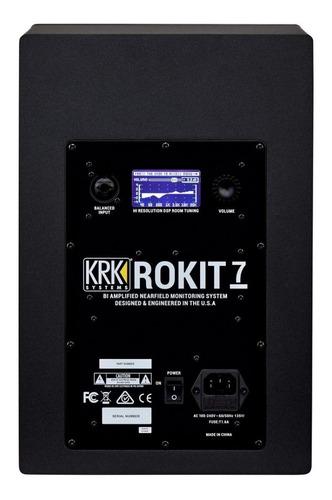monitores estudio krk rokit rp7 ultima gen 7¨ x par - oddity