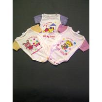 Set De 3 Body De Algodón Para Bebes 0 A 3 Meses Para Niñas