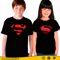 Franelas Para Niños Batman, Súperman, Capitan América