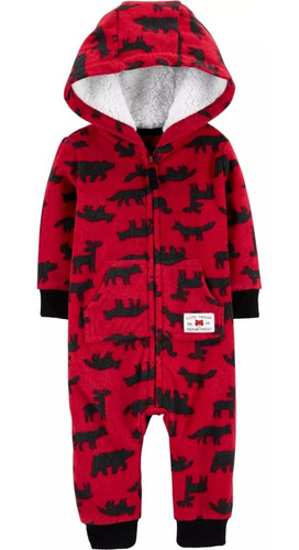 monitos carters jumpsuit hoodies sherpa