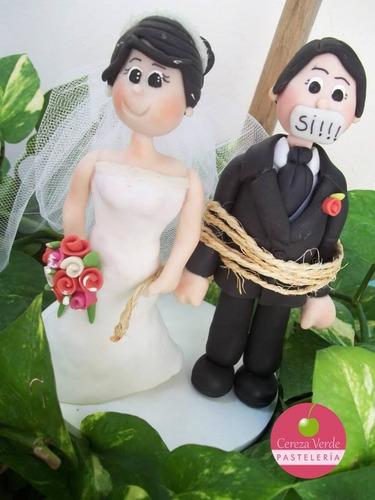 monitos para pastel de bodas