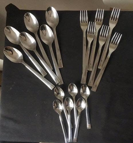 monix europa - set 18 piezas, cubiertos de acero inoxidable