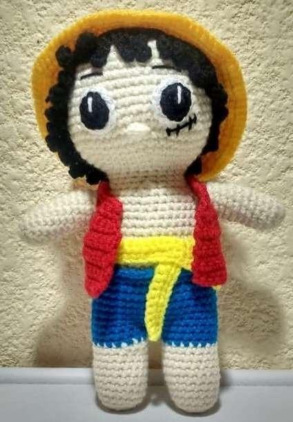 Amigurumi PATTERN One piece - Monkey D. Luffy | 611x425