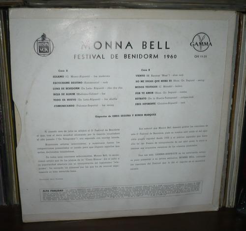 monna bell lp festival benidorm 1960