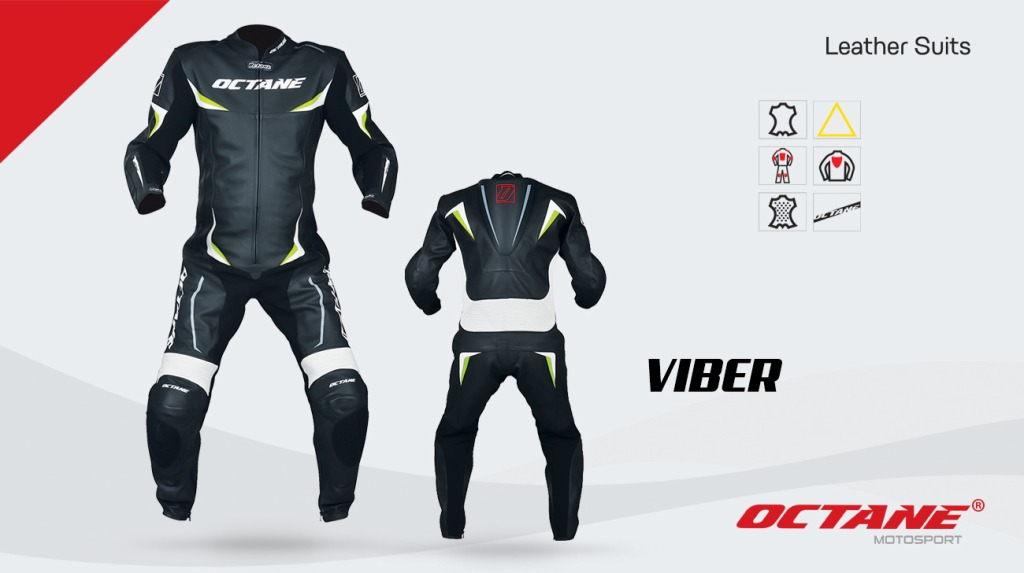 8e052490593 mono conjunto cuero octane viber para moto pista - sti motos. Cargando zoom.