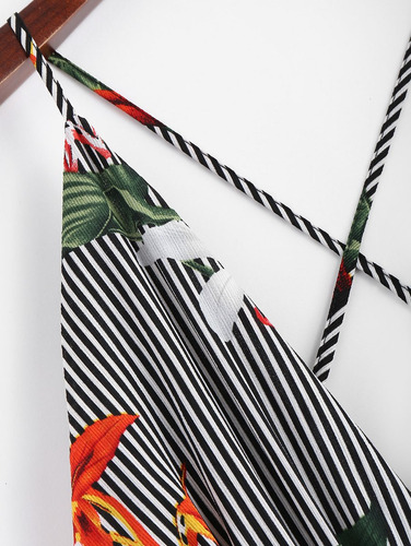 mono floral a rayas criss cruz