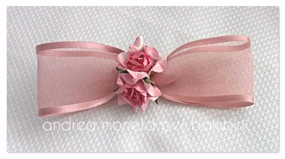 Moño Flores Vestido Bebe Nena Flor Fiesta Prendedor Moneta - $ 499 ...