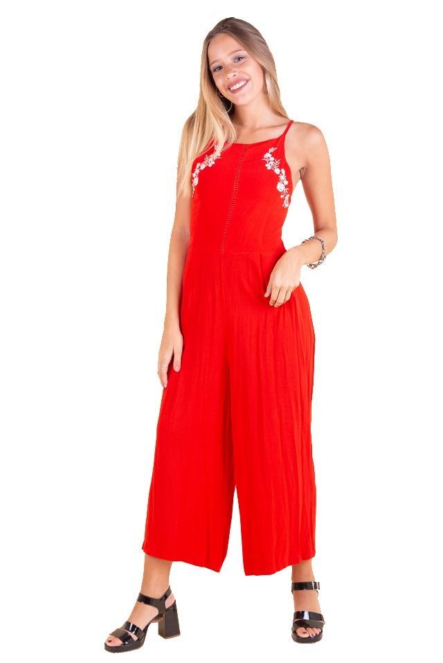b0061cb983727 vestir zoom largo mono mujer bordado de Cargando ss19 qFxzHUw