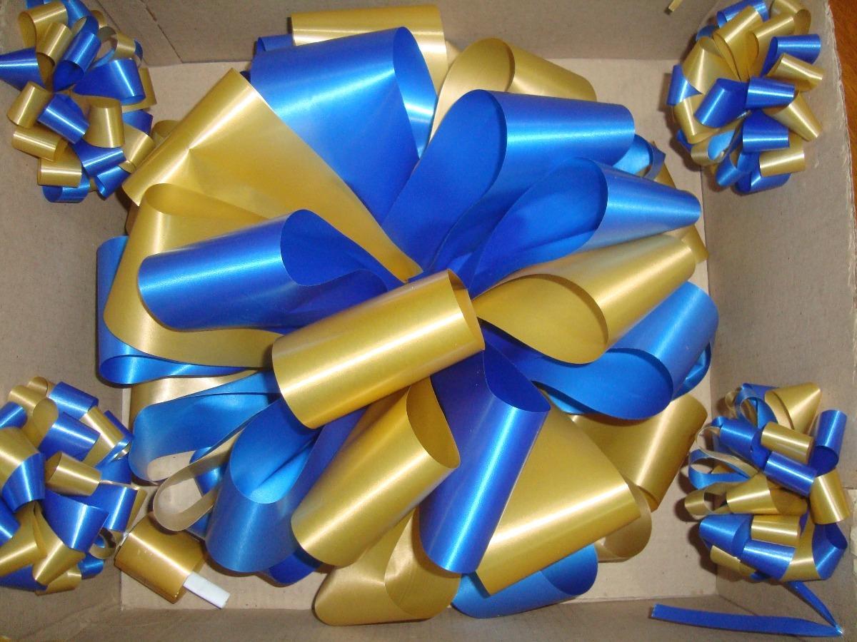 4a9f37b46d2 Moño Para Auto Boca Central Atlanta 15 Años Azul Y Amarillo -   592 ...