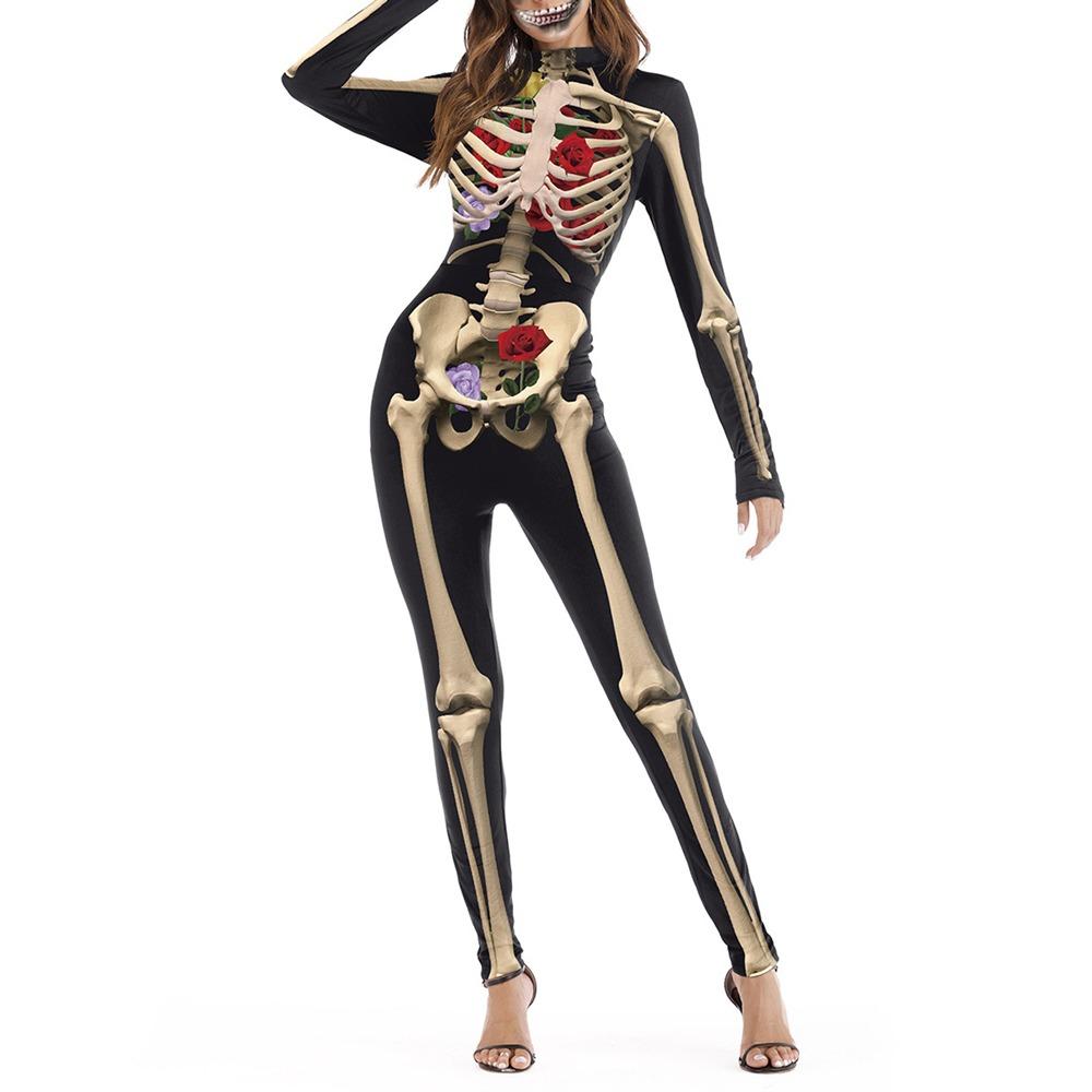 fdf8a807b0 Mono Para Halloween, Disfraz Para Mujer, Dise?o Esqueleto - $ 481.22 ...