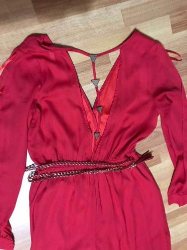 mono rojo escotado en espalda nuevo de vestir hermoso!!!!!