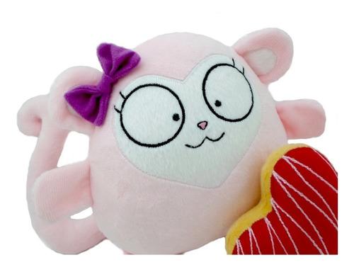 mono rosa peluche nombre personalizado amor cumpleaños bebé