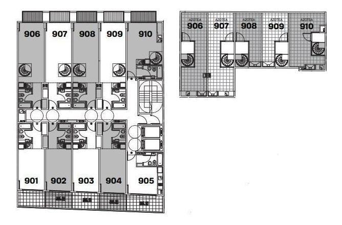 monoambiente 9no piso con terraza propia!