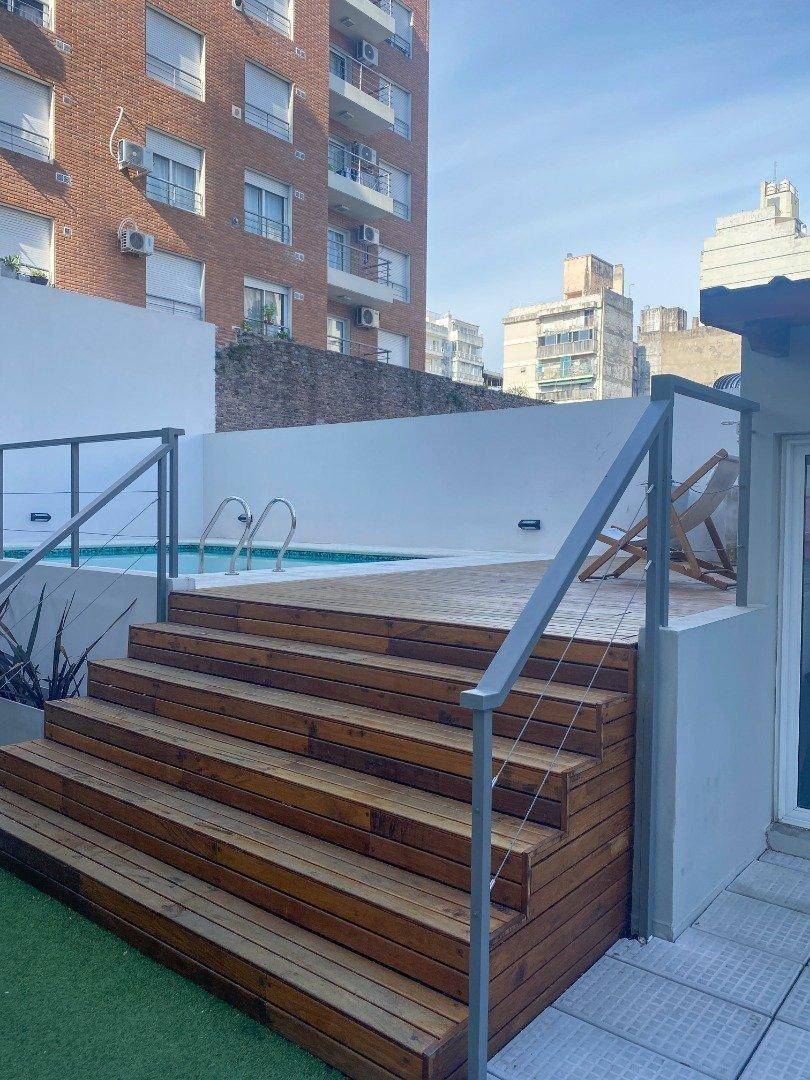 monoambiente a estrenar en edificio con piscina y quincho - muy amplio