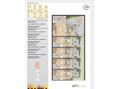 monoambiente al contra frente) con patio 7 m2 (ascensor) vera mujica 1254