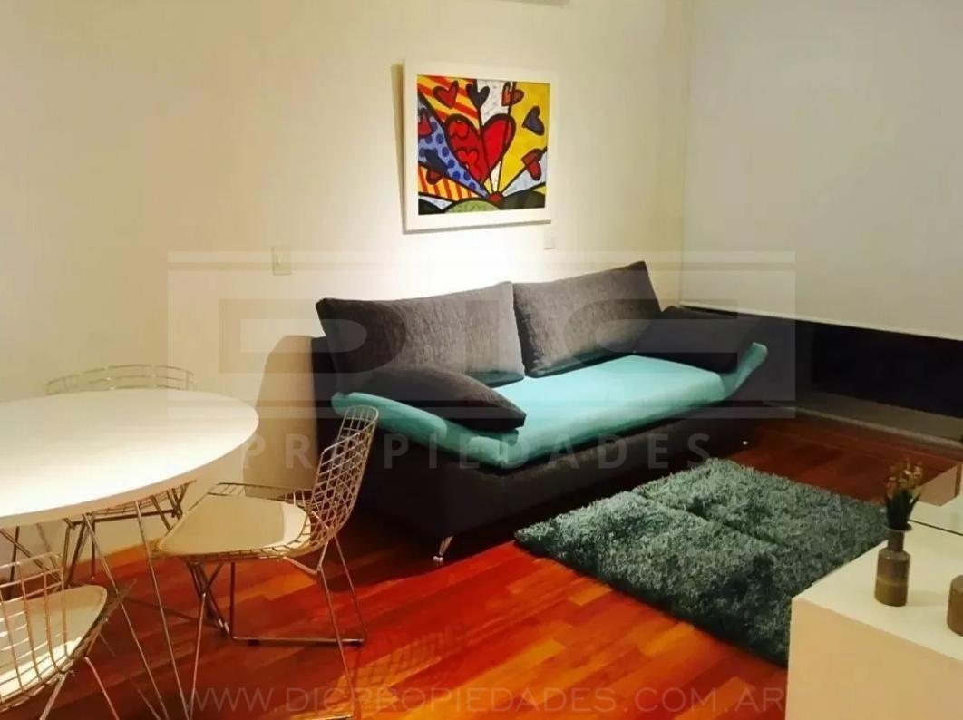 monoambiente  al frente con pileta y solarium. con o sin muebles - belgrano