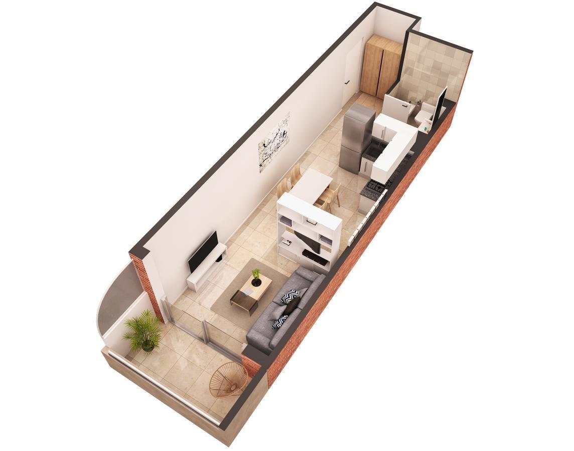 monoambiente con balcón apto profesional en construcción - parque patricios