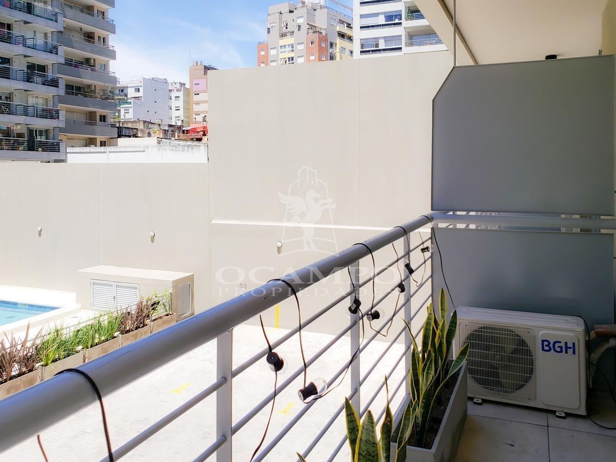 monoambiente con balcón en villa urquiza
