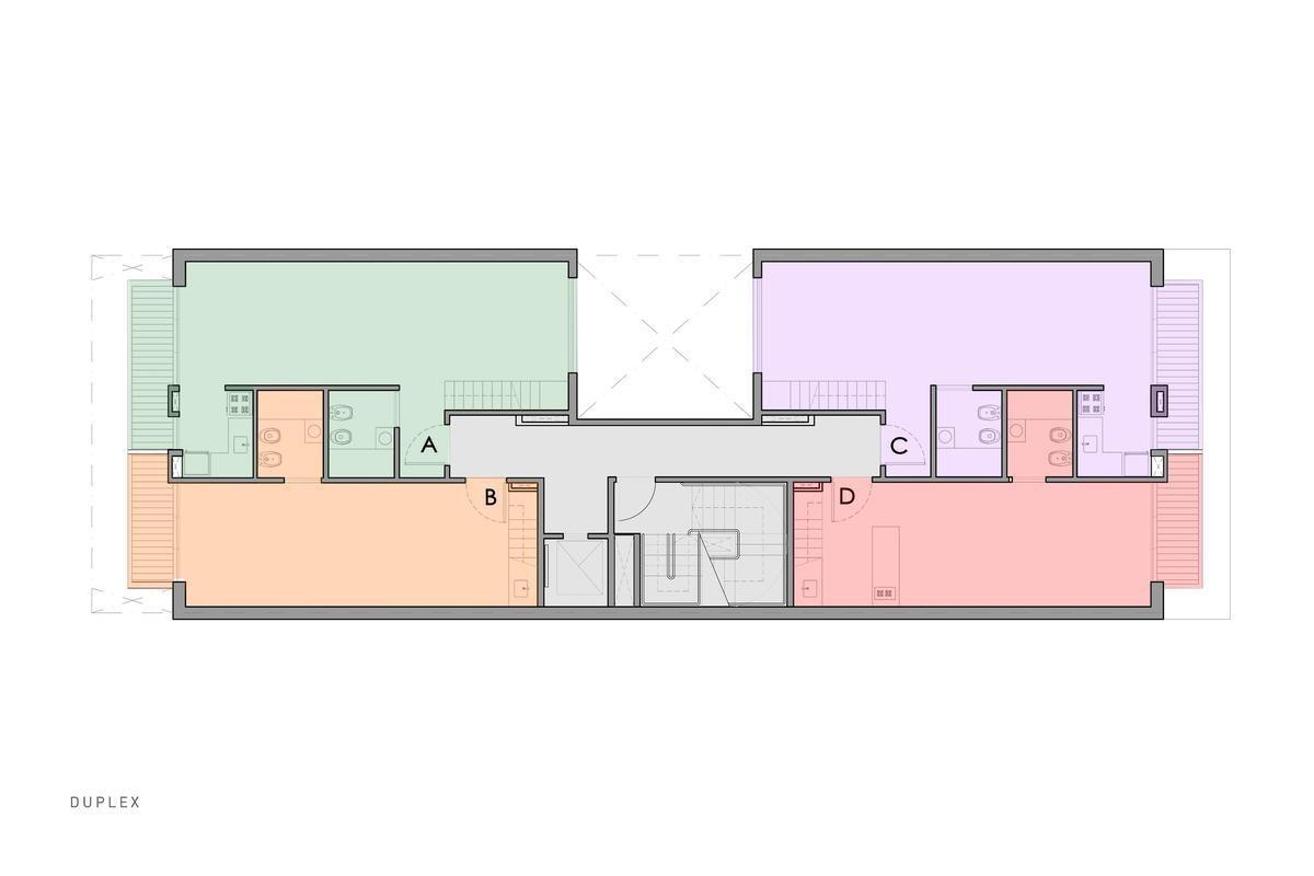 monoambiente con balcon y teraza - caballito