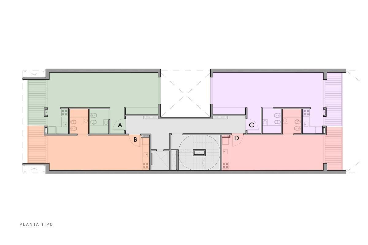 monoambiente con balcon y terraza - caballito