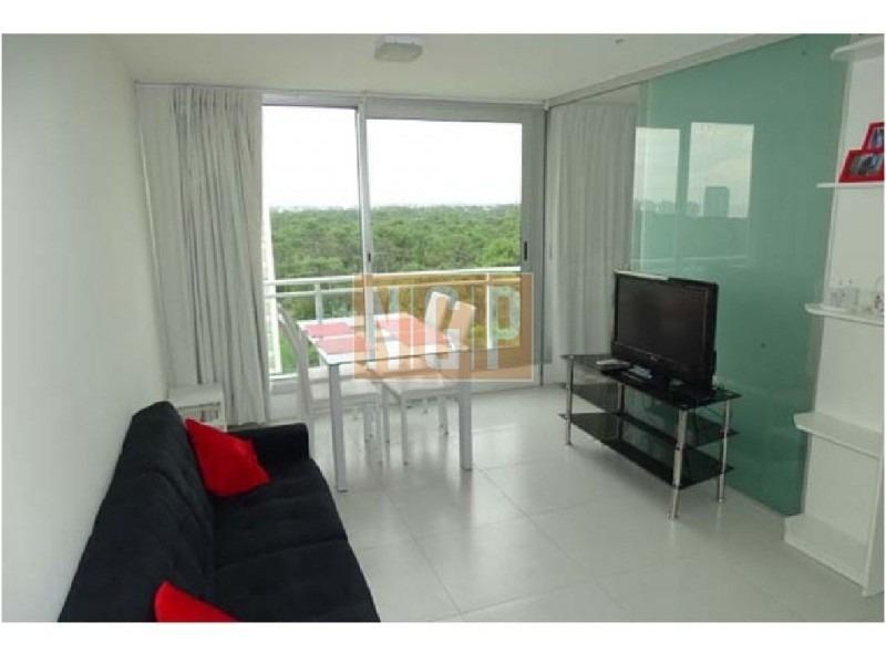monoambiente con dormitorio dividido en roosevelt, punta del este piso alto con vista al mar!   cómodo loft en la zona de roosevelt en edificio con todos los servicios!-ref:9093