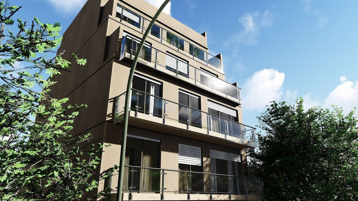 monoambiente  contrafrente con balcon