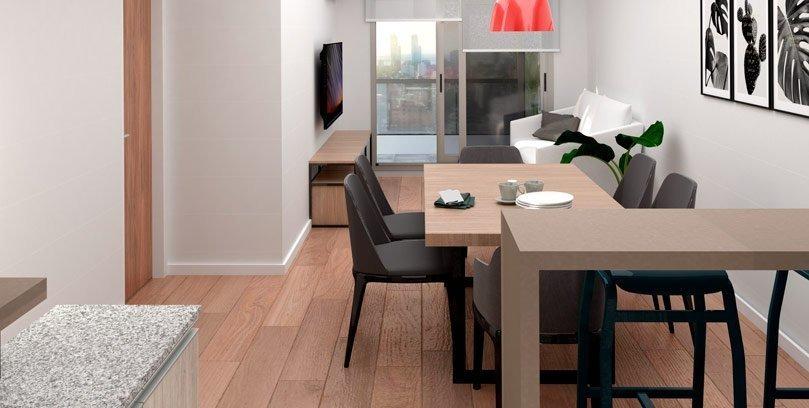 monoambiente de 35 m2 en san martin al 1600. edificio con amenities.