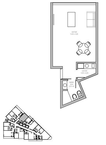 monoambiente en la exclusiva torre gaudí - venta de pozo