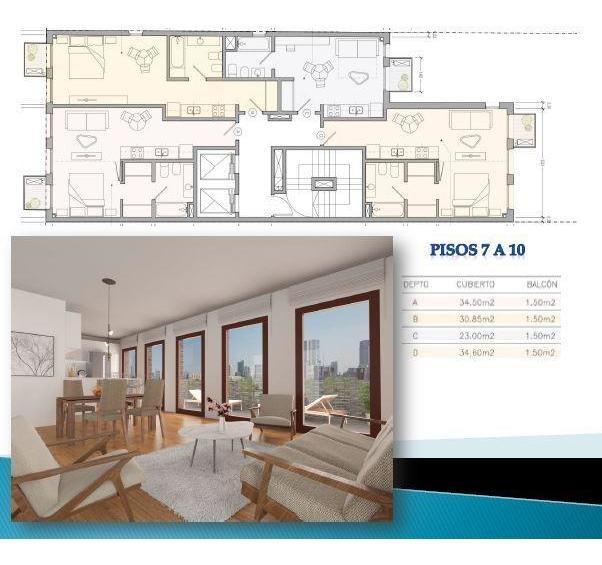 monoambiente en venta - nuevo proyecto de viviendas - retiro