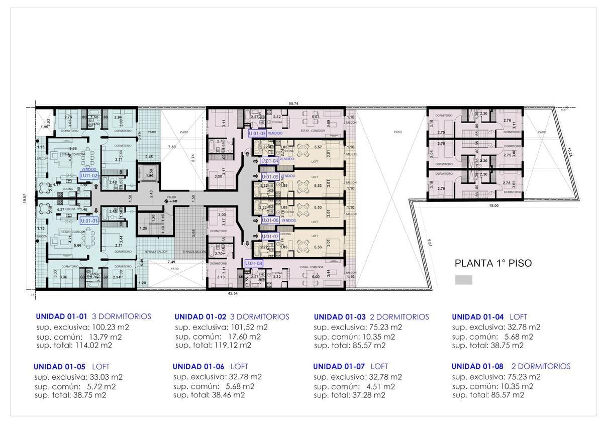 monoambientes - 1 - 2 - 3 dormitorios en barrio pichincha