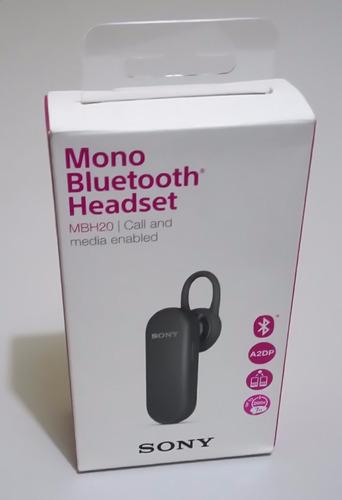 monoauricular sony mbh20 - bluetooth headset, nuevo & tienda