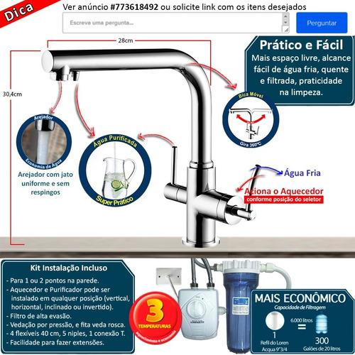 monocomando lorenzetti 4263 c60 com saída para agua filtrada