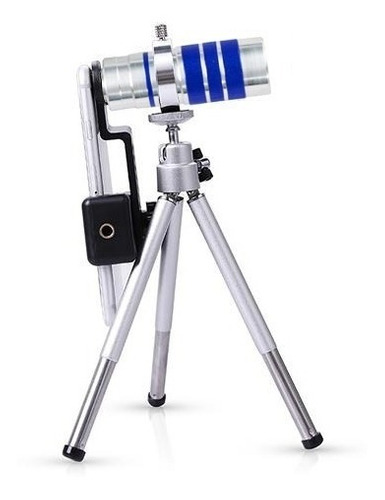 monocular celular aluminio soporte 10x hd tripode telescopio