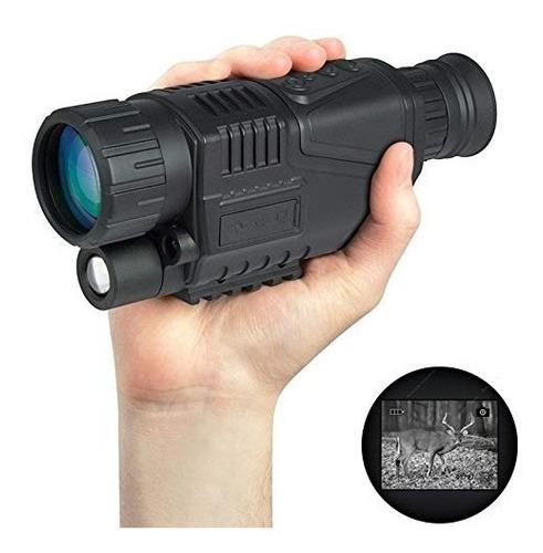 monocular de visión nocturna, 5x40 hd cámaras de caza c...